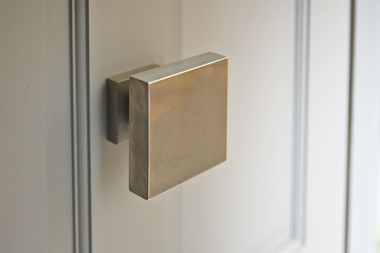 Nickel door knob