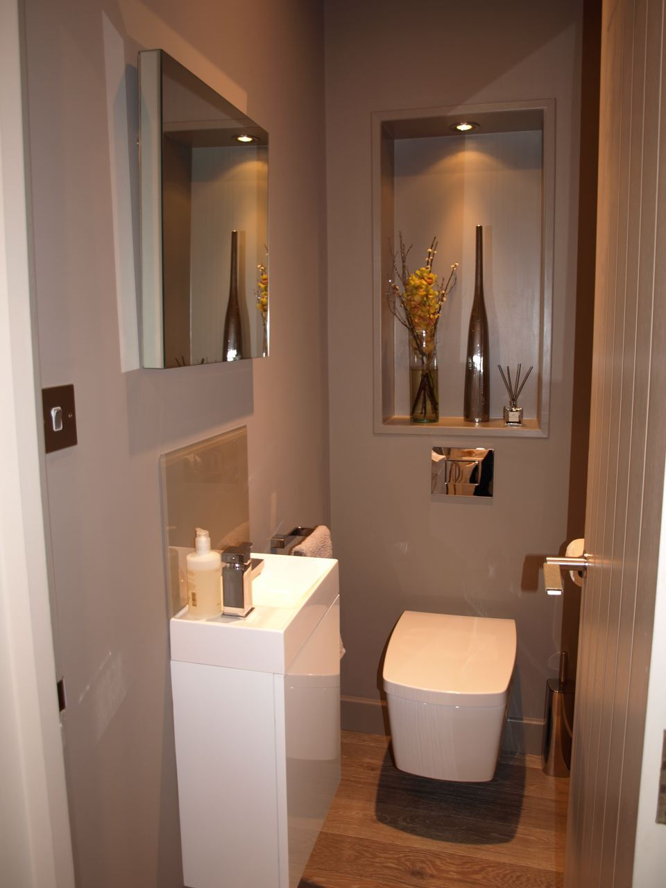 Bespoke mirror_wall hung toilet